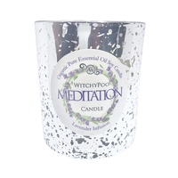 Meditation Crystal Spell Candle - Lavender Infusion - 250grams